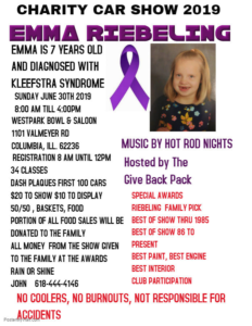 Charity Car Show 2019 for Emma Riebeling @ Columbia IL